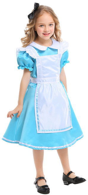 Alice in Wonderland Dress Girls Costume Front