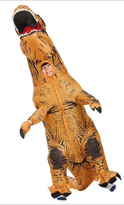 T-Rex inflatable Kid Brown Costume