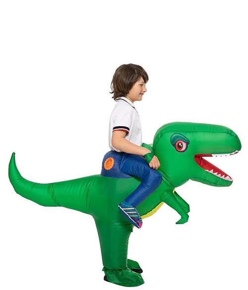 T-Rex Inflatable Kid Green Costume