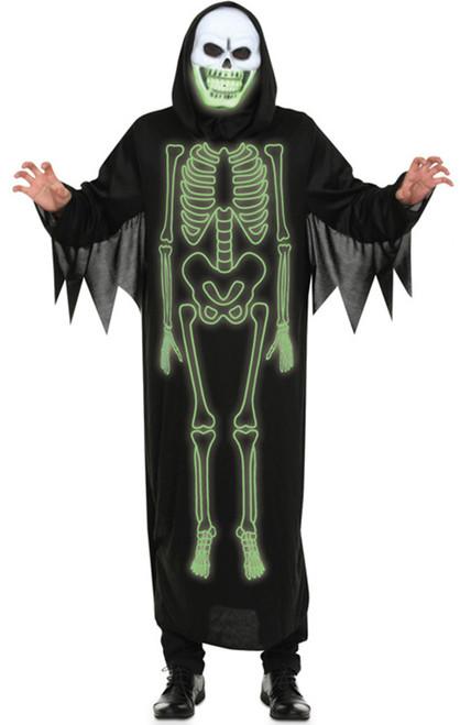 Reaper Skeleton Glow in the Dark Men Costume