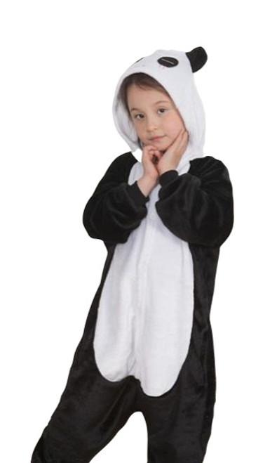Panda Onesie Kids Costume front