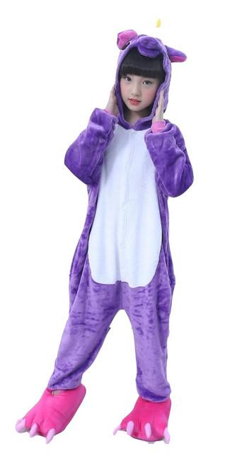Purple Unicorn Kid Onesie Costume front