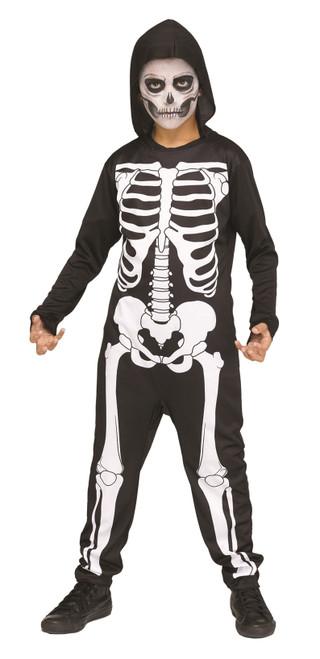 Skeleton Jumpsuit Kids Costume