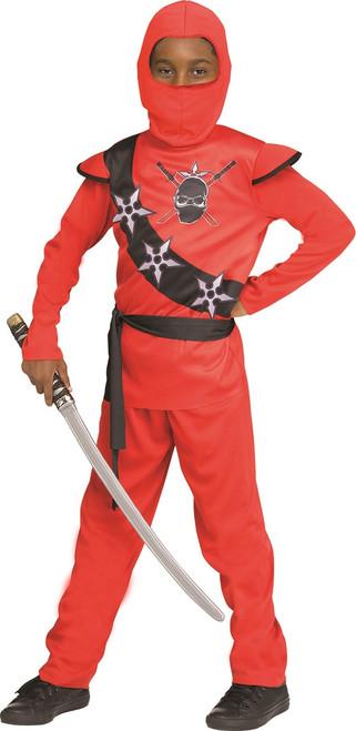Flaming Red Ninja Kids Costume