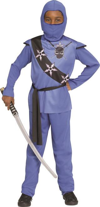 Kids Light Blue Ninja Costume