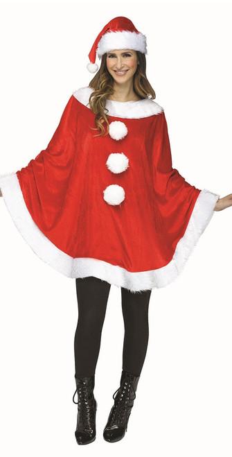 Christmas Santa Plush Poncho
