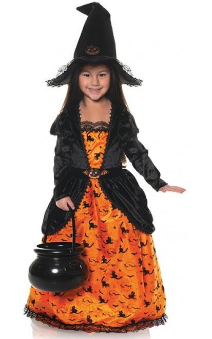 Pumpkin Witch Girls Costume