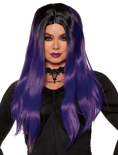 Purple and Black Wig for Women