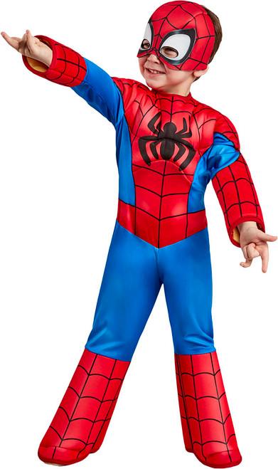 Deluxe Spiderman Toddler Costume