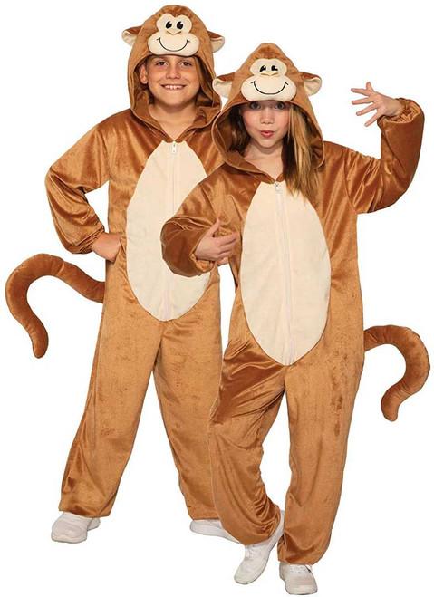 Monkey Hooded Jumpsuit Kids Costume