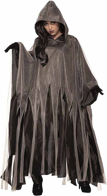 Gray Ghoul Halloween Cape