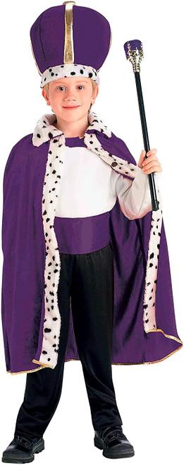 Purple King Robe and Crown Kids Costume
