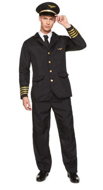 Airline Pilot Men Costume