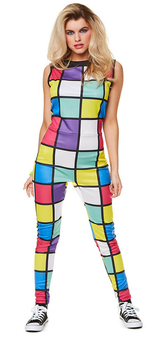 80s Jumpsuit Women Costume