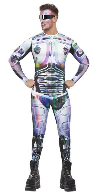 Cyber Space Alien Men Costume