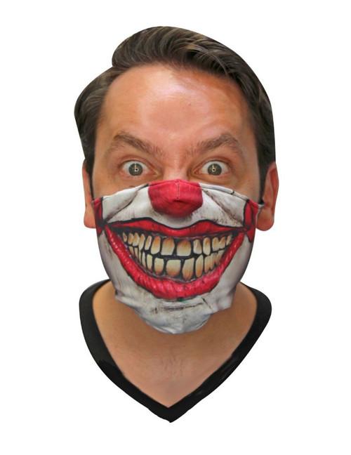Scary Killer Clown White Fabric Mask