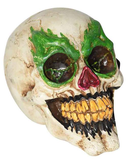 "Posable Scary Clown Skull 7"""