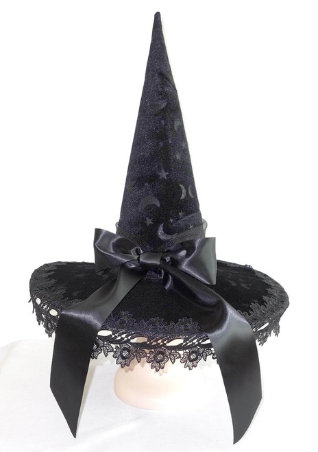 Deluxe Black Witch Hat