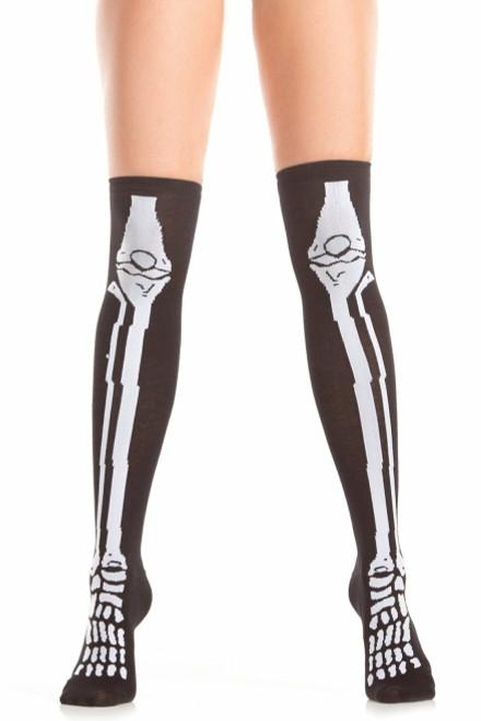 Skeleton Scare Knee Highs