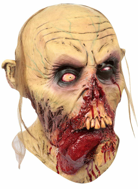 Zombie Tongue Out Latex Mask