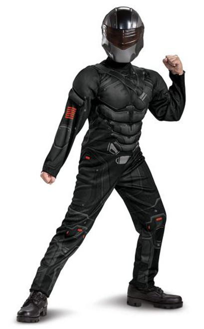 Gi Joe Snake Eyes Muscle Kids Costume
