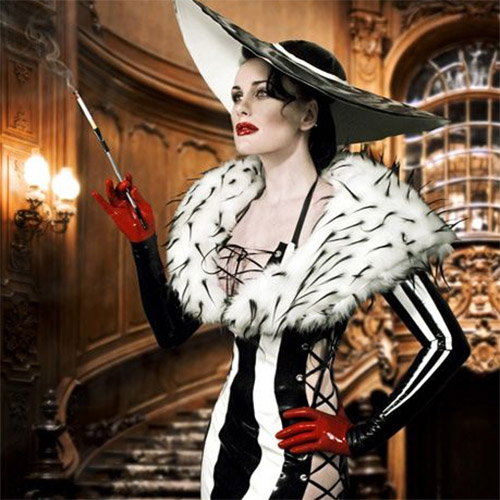 Elegant outfit inspired by Cruella's style