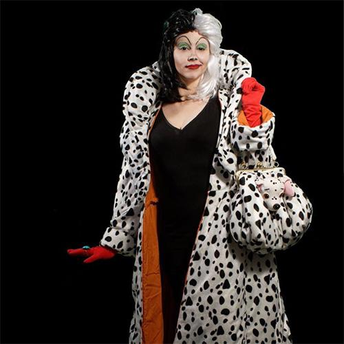 Classic Cruella costume with gown