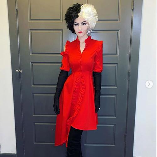 Red dress Cruella de vil costume