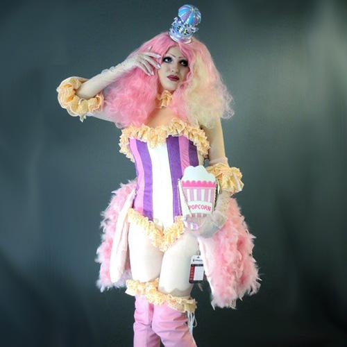 Burlesque Style Popcorn Dress