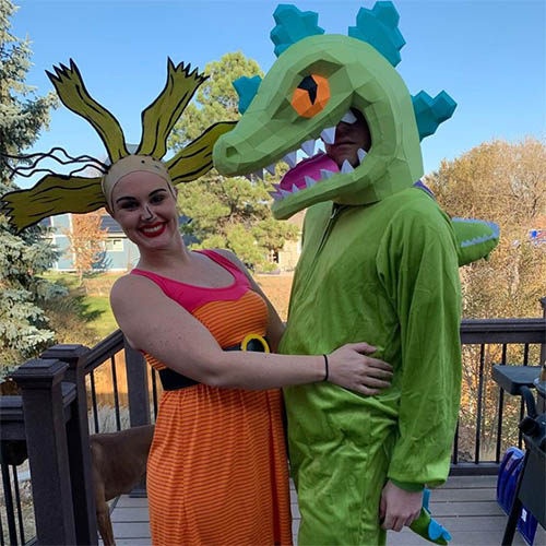 Reptar from Rugrats and Cynthia Costume