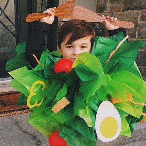 Homemade Child Salad Costume