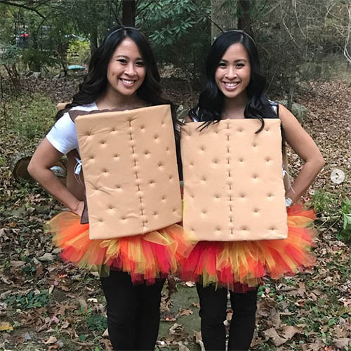 Twins Dressed as Smores