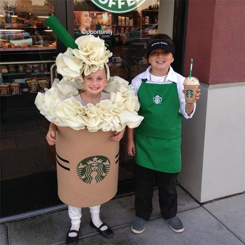 Frappucino Starbucks DYI Kids Costume