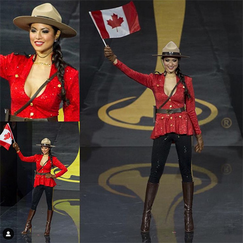 RCMP-inspired woman's outfit Riza Santos