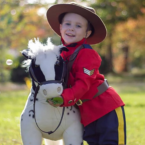 Child RCMP Costume with Horse