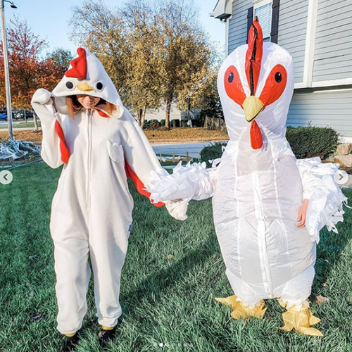 Chicken Inflatable Couple Costume