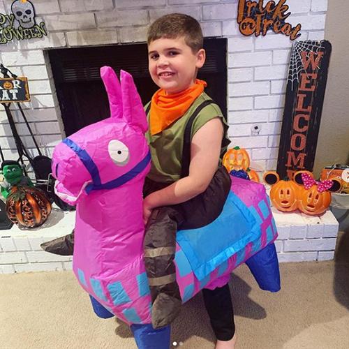 Pink Llama Inflatable Kids Costume