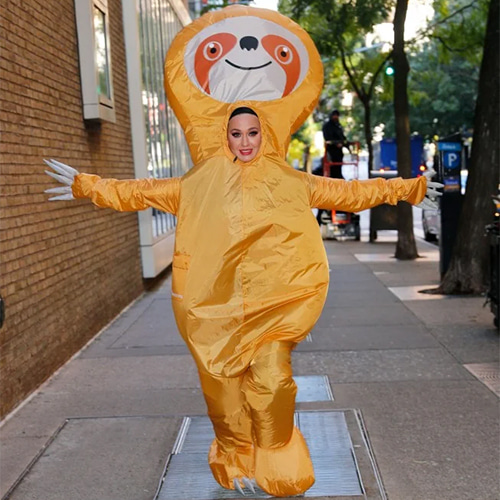 Katy Perry in Inflatable Sloth Costume