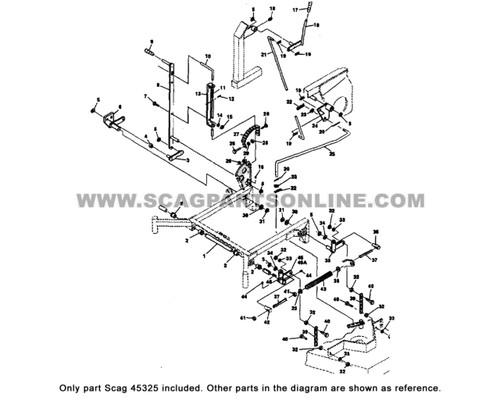Parts lookup Scag 48090 STG-18KH Throttle Control OEM diagram