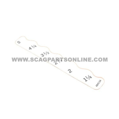 Scag DECAL, DECK HEIGHT - LH 484134 - Image 1