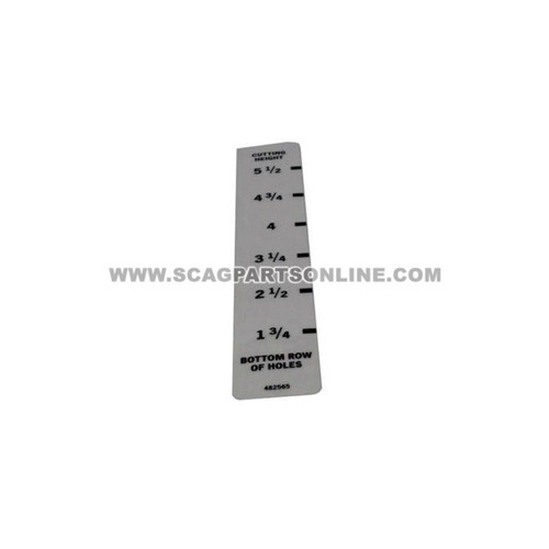 Scag DECAL, CUTTING HEIGHT 482565 - Image 1