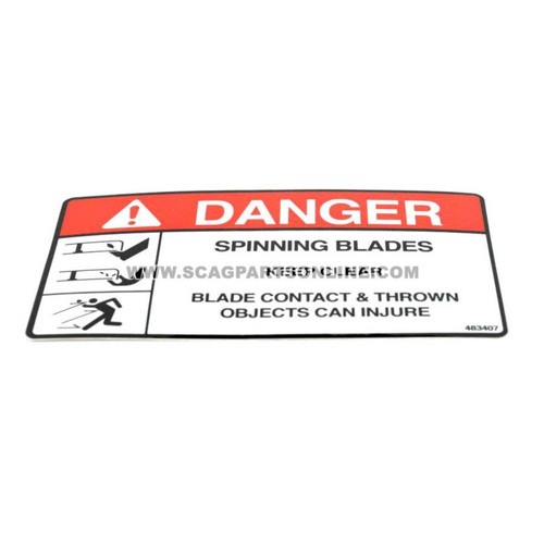 Scag DECAL, SPINNING BLADES 483407 - Image 1