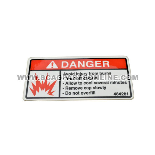 Scag DECAL, FUEL TANK 484281 - Image 1