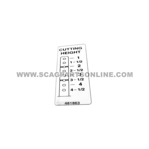 Scag DECAL, CUTTING HEIGHT 481863 - Image 1