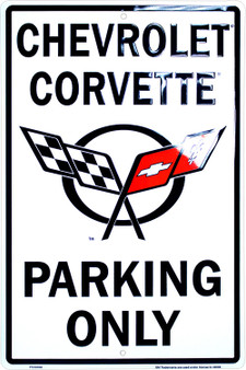 8 x 12 Corvette parking only