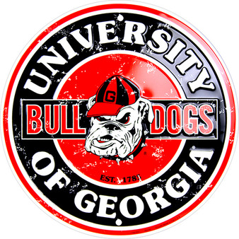 HangTime Georgia Bulldog  12 inch circle sign