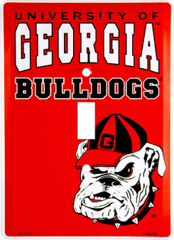 HangTime Georgia Bulldog  Single Light Swich Plate