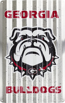 HangTime Georgia Bulldog  12 x 18 inch corrugated sign