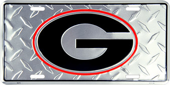HangTime Georgia Bulldog  diamond background license plate