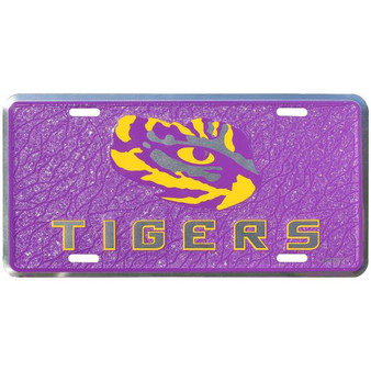 HangTime LSU  mosaic license plate